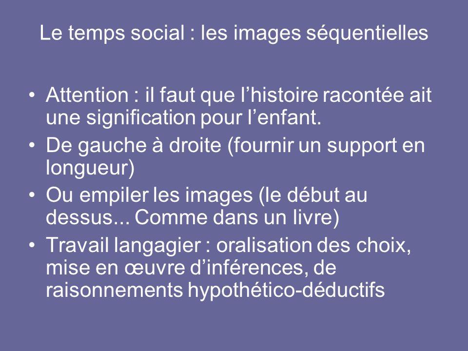 Le temps social : les images séquentielles