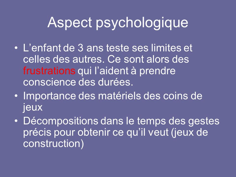 Aspect psychologique