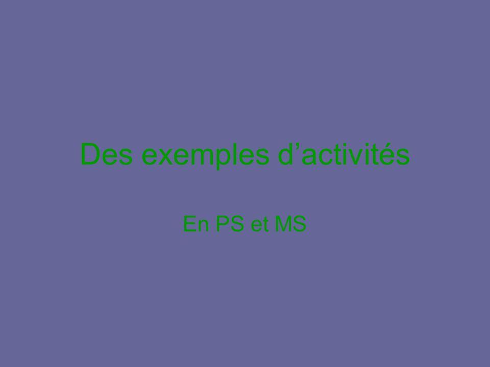 Des exemples d'activités