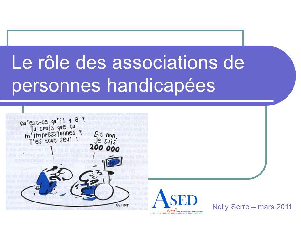 Le rôle des associations de personnes handicapées