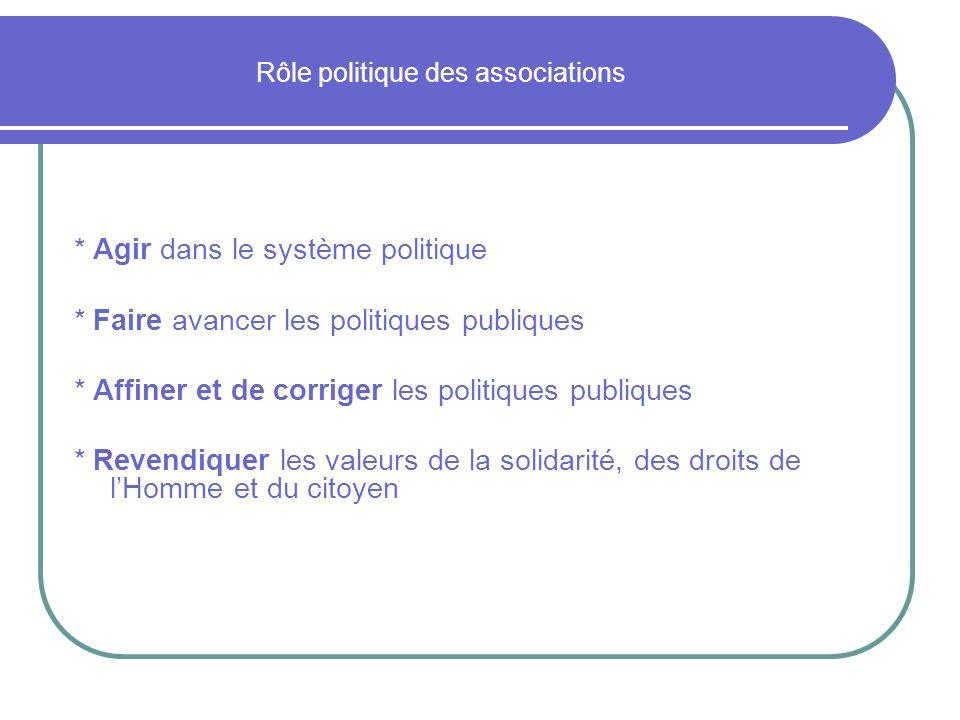 Rôle politique des associations