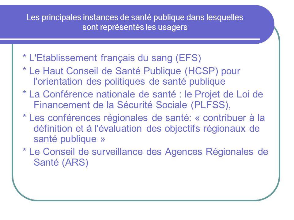 * L Etablissement français du sang (EFS)