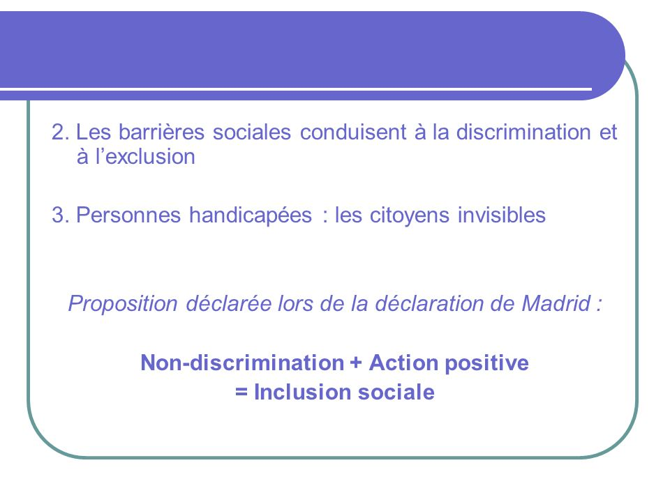 Non-discrimination + Action positive