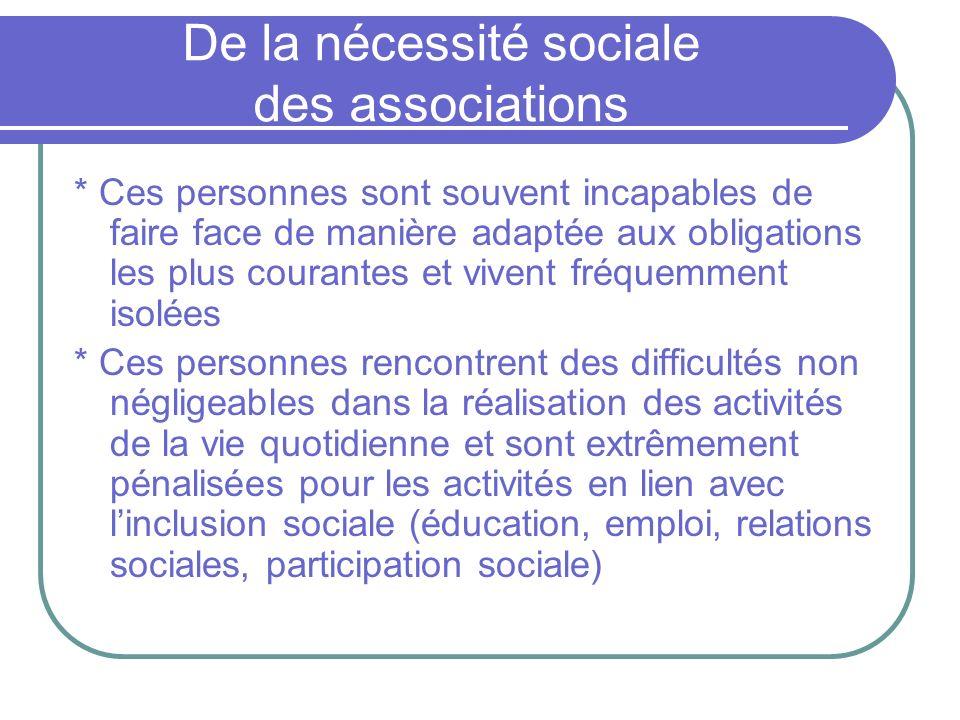 De la nécessité sociale des associations