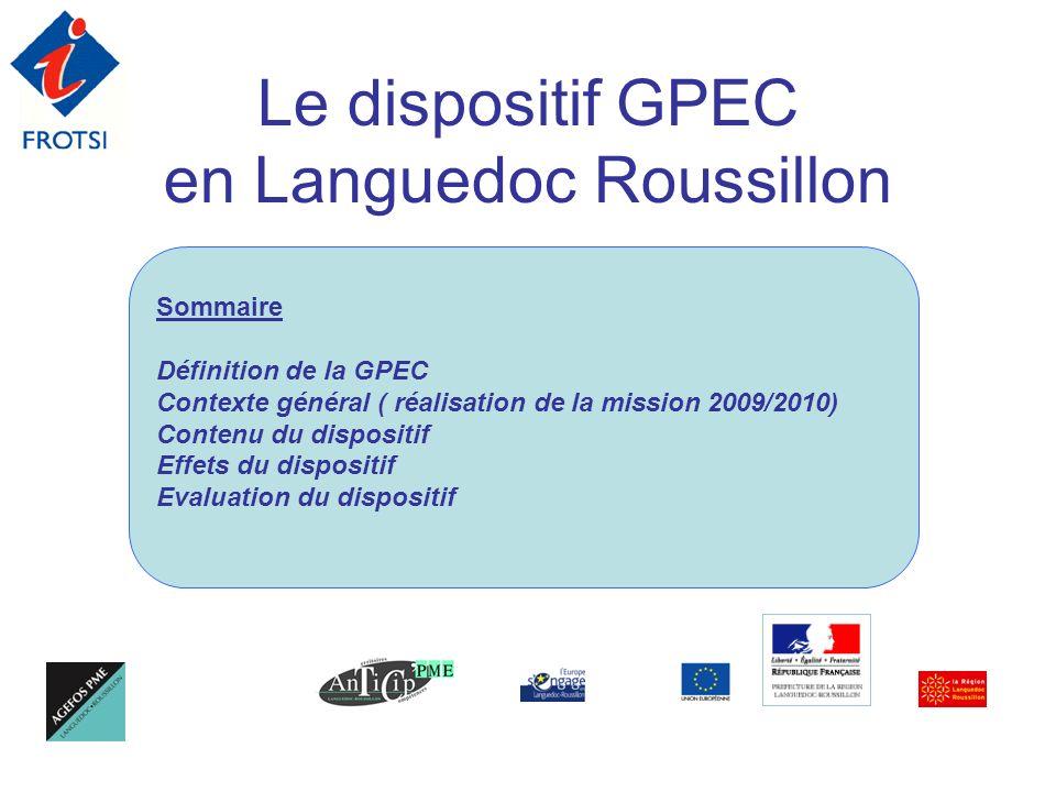 Le dispositif GPEC en Languedoc Roussillon