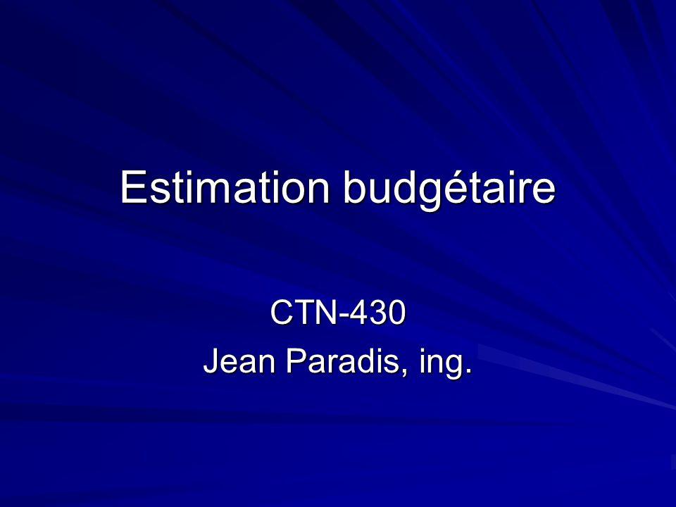 Estimation budgétaire