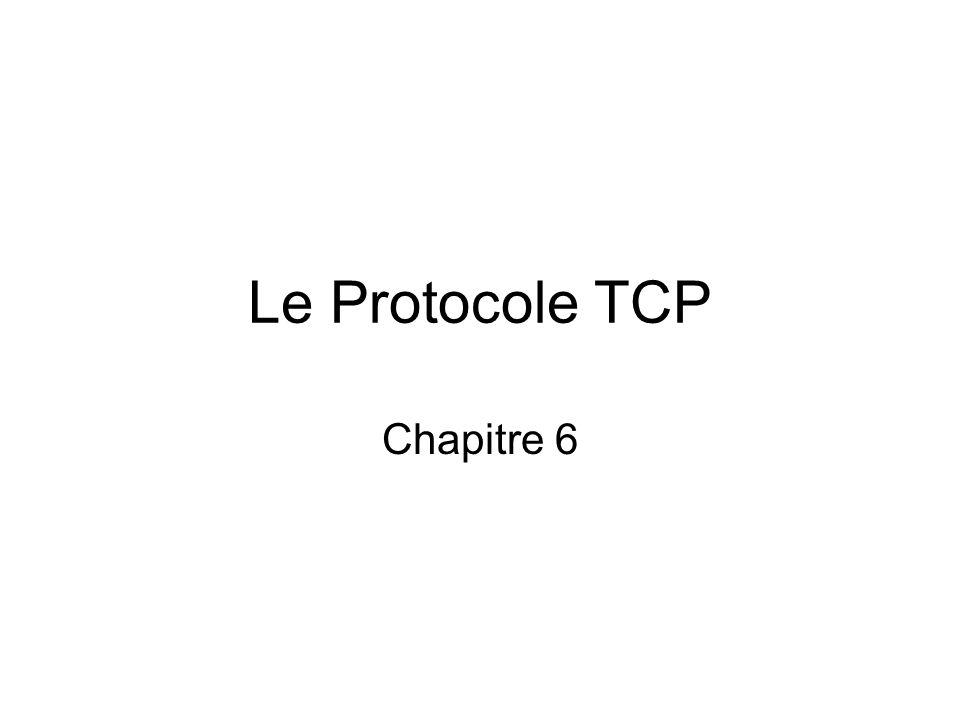 Le Protocole TCP Chapitre 6