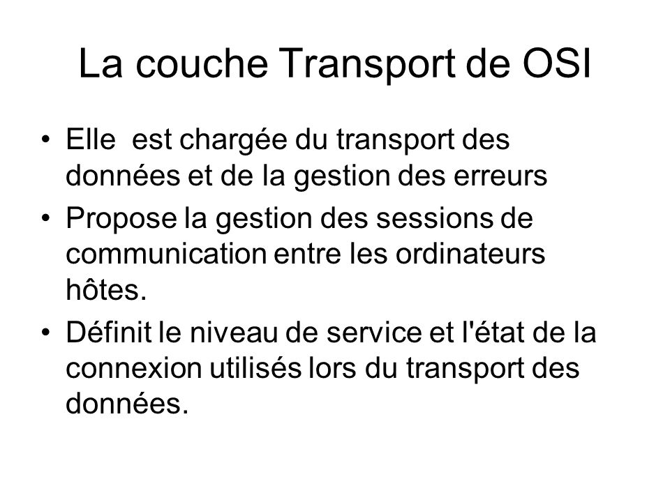 La couche Transport de OSI