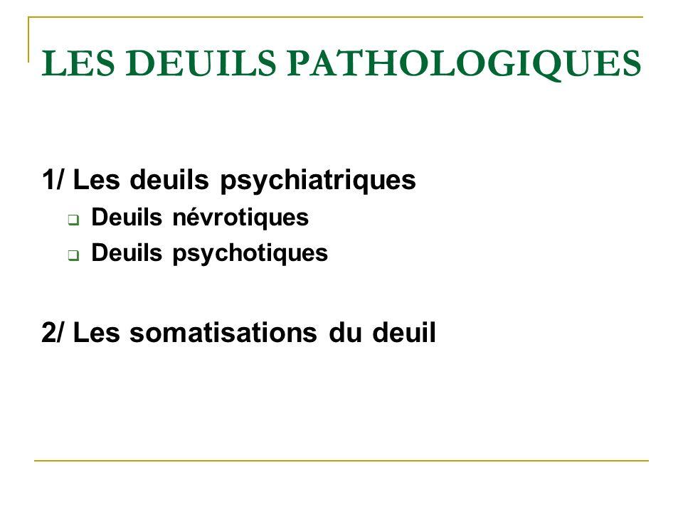 LES DEUILS PATHOLOGIQUES