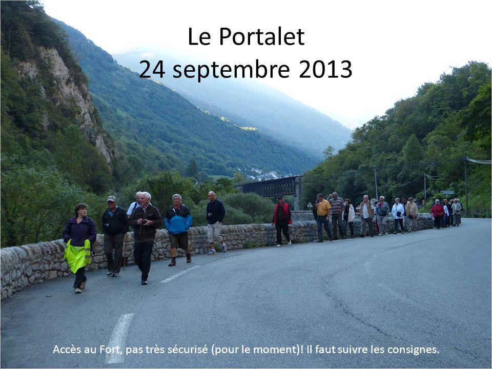 Le Portalet 24 septembre 2013 Accès au Fort, pas très sécurisé (pour le moment).