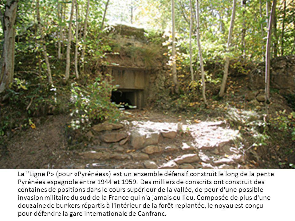 La Ligne P» (pour «Pyrénées») est un ensemble défensif construit le long de la pente Pyrénées espagnole entre 1944 et 1959.