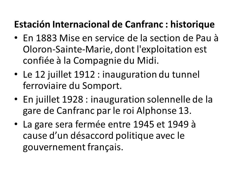 Estación Internacional de Canfranc : historique