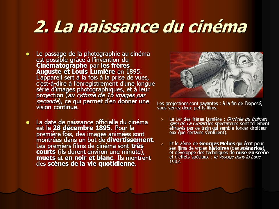 2. La naissance du cinéma