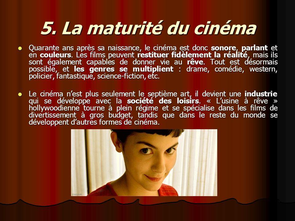 5. La maturité du cinéma