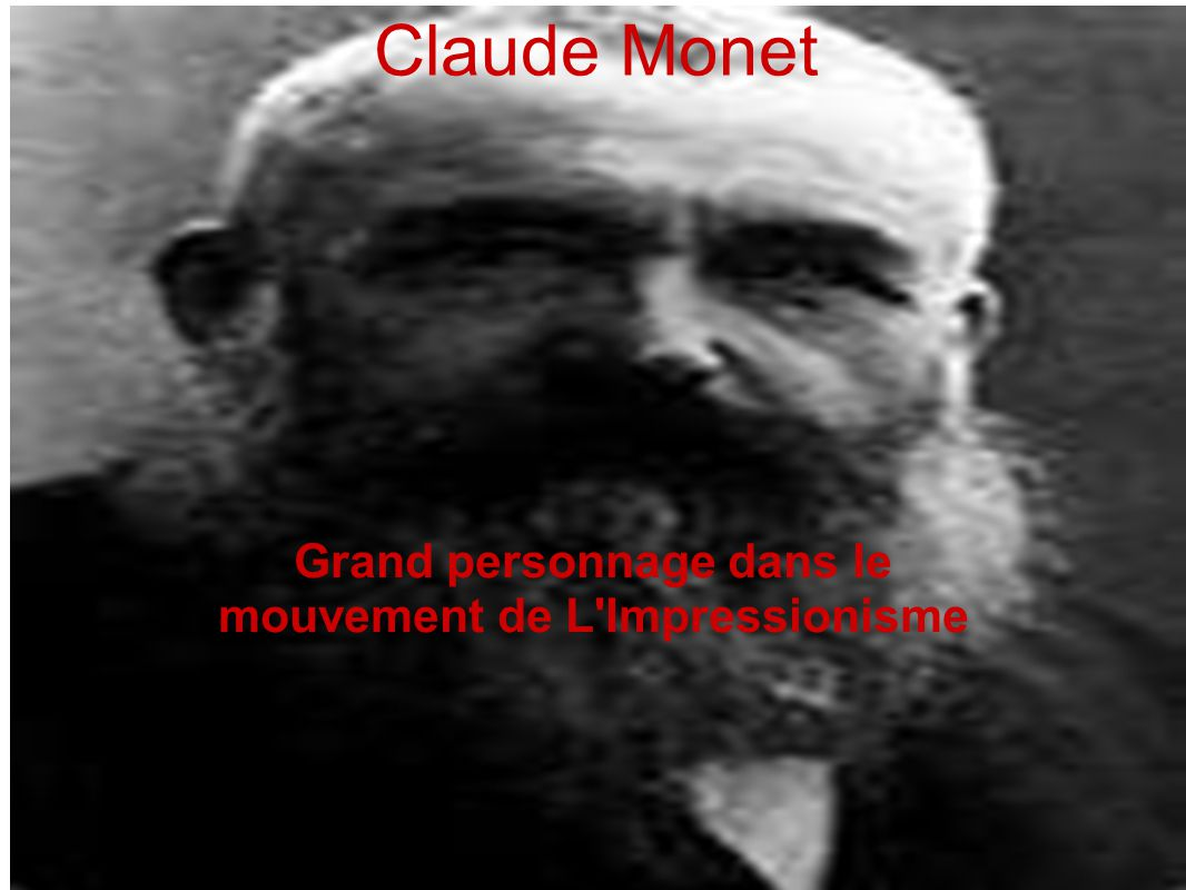 Grand personnage dans le mouvement de L Impressionisme