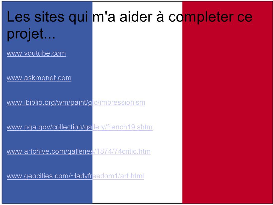 Les sites qui m a aider à completer ce projet...