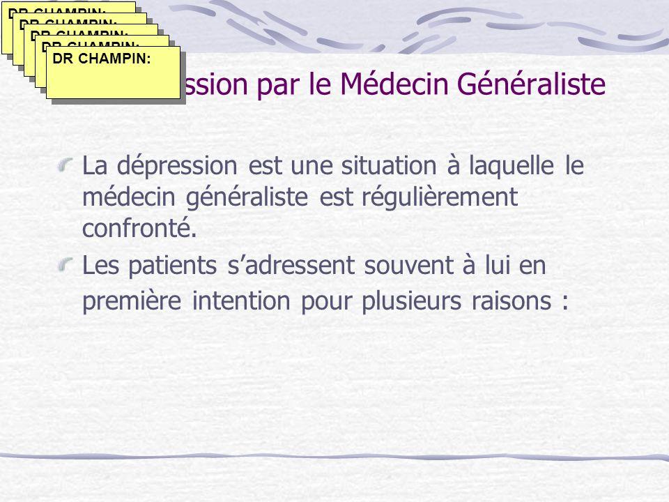 La Dépression par le Médecin Généraliste
