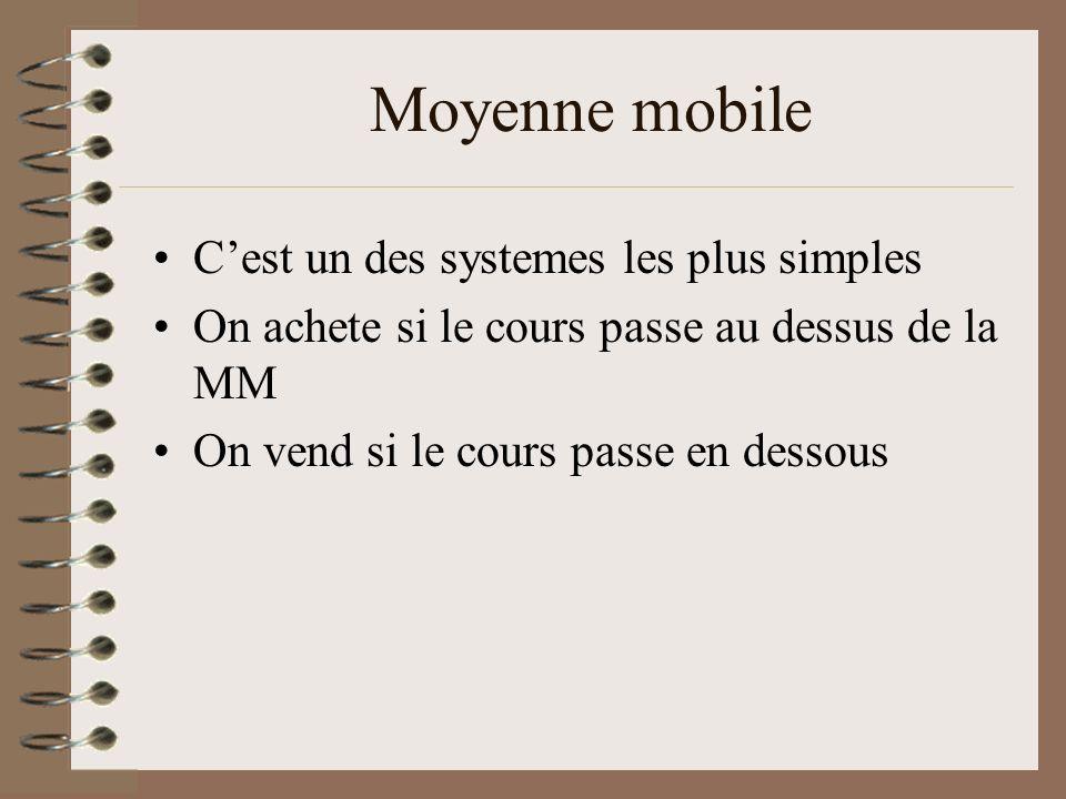 Moyenne mobile C'est un des systemes les plus simples