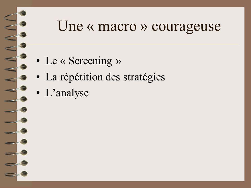 Une « macro » courageuse