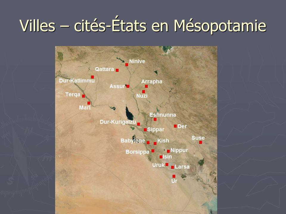 Villes – cités-États en Mésopotamie