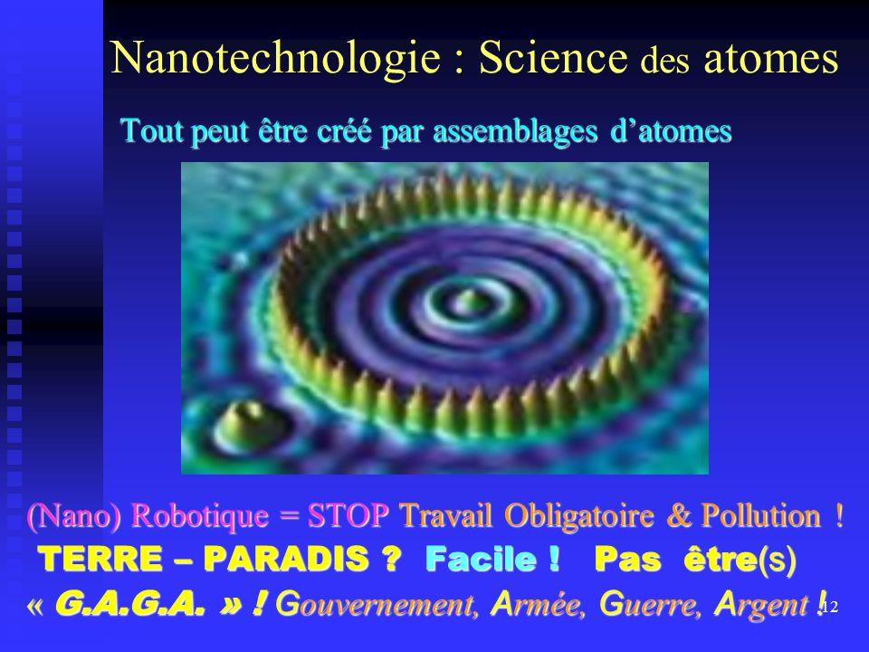 Nanotechnologie : Science des atomes