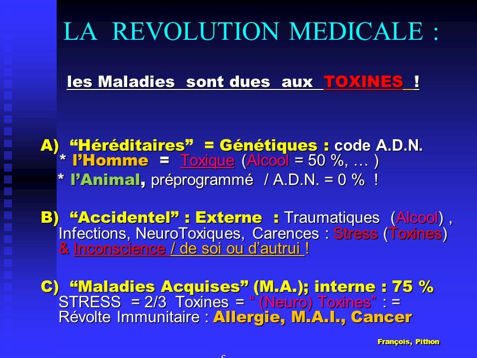LA REVOLUTION MEDICALE :