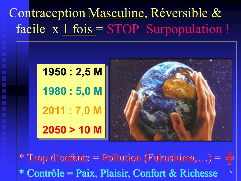 Contraception Masculine, Réversible & facile x 1 fois = STOP Surpopulation !