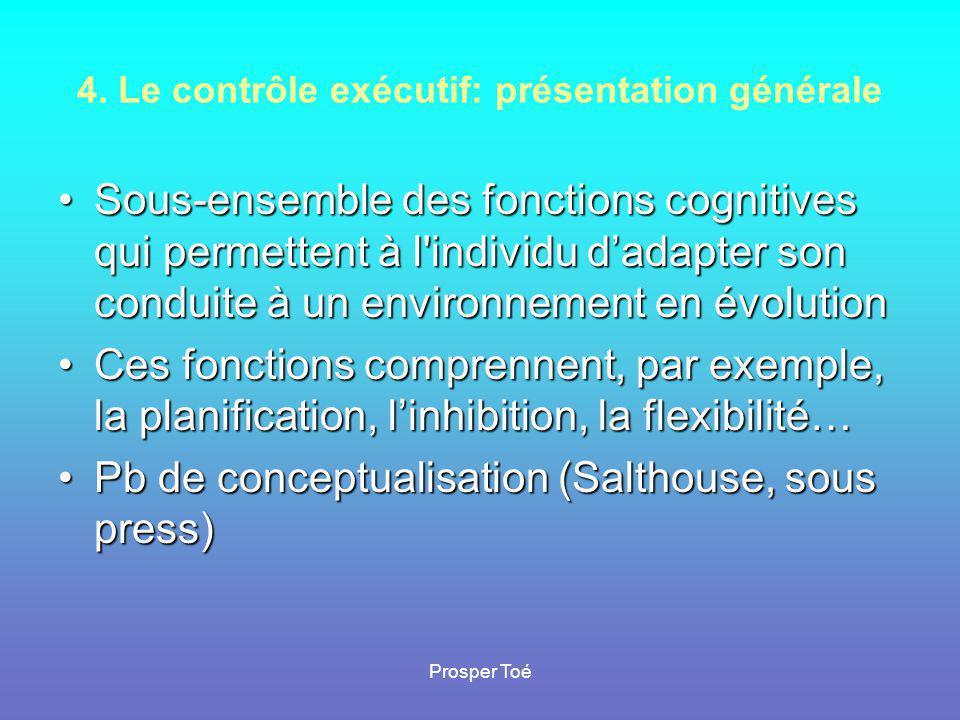 4. Le contrôle exécutif: présentation générale
