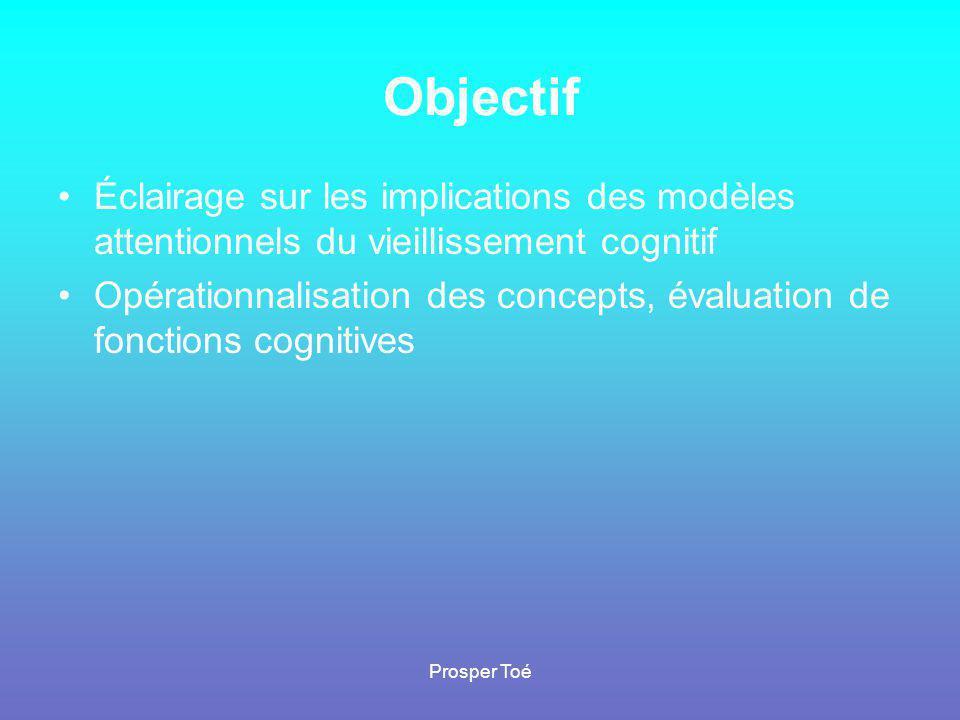 Objectif Éclairage sur les implications des modèles attentionnels du vieillissement cognitif.