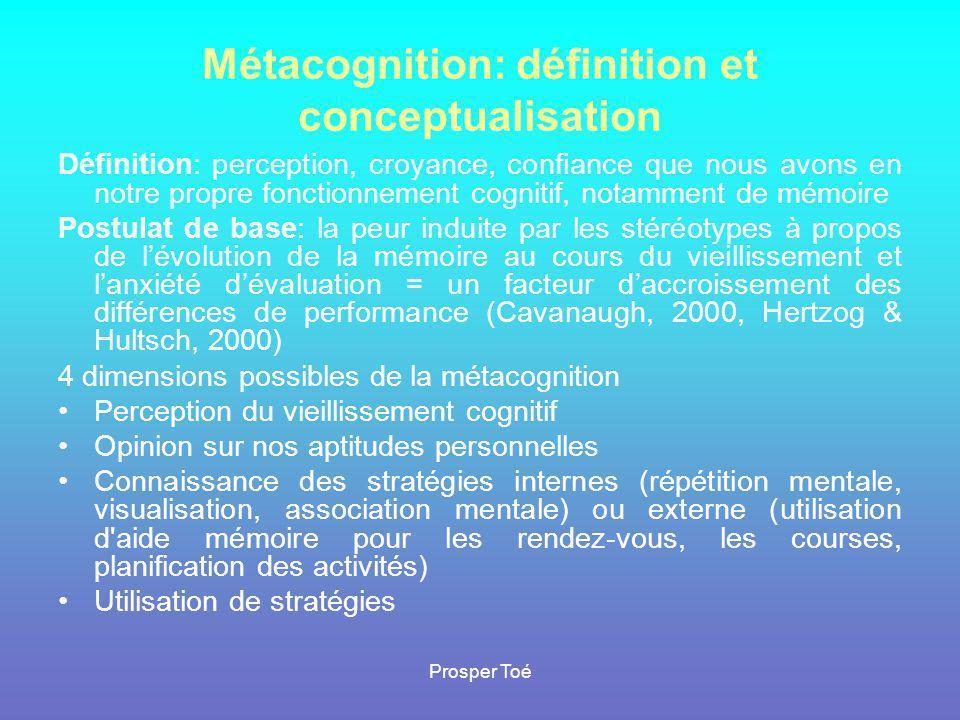 Métacognition: définition et conceptualisation