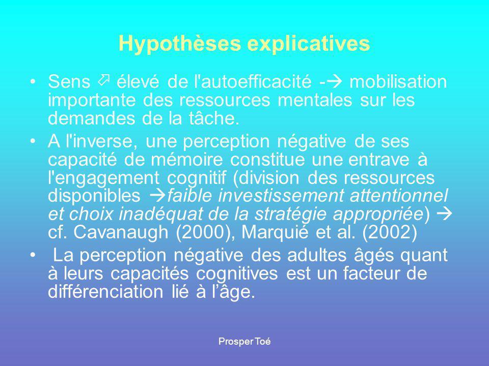 Hypothèses explicatives