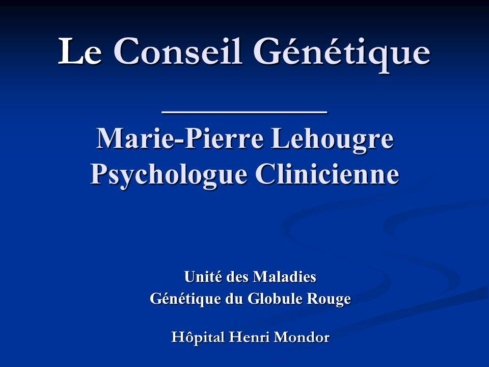 Unité des Maladies Génétique du Globule Rouge Hôpital Henri Mondor