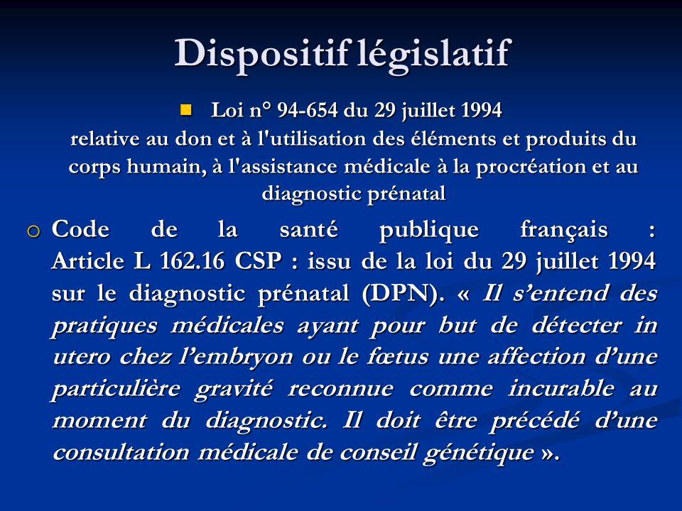 Dispositif législatif