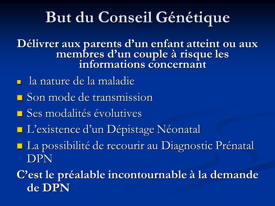 But du Conseil Génétique