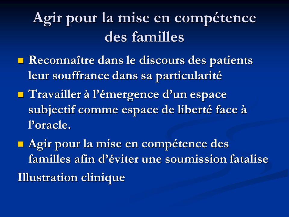 Agir pour la mise en compétence des familles