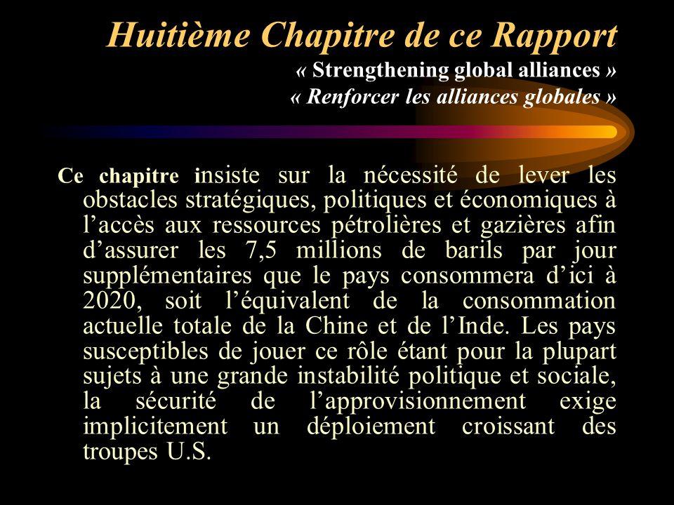 Huitième Chapitre de ce Rapport « Strengthening global alliances » « Renforcer les alliances globales »