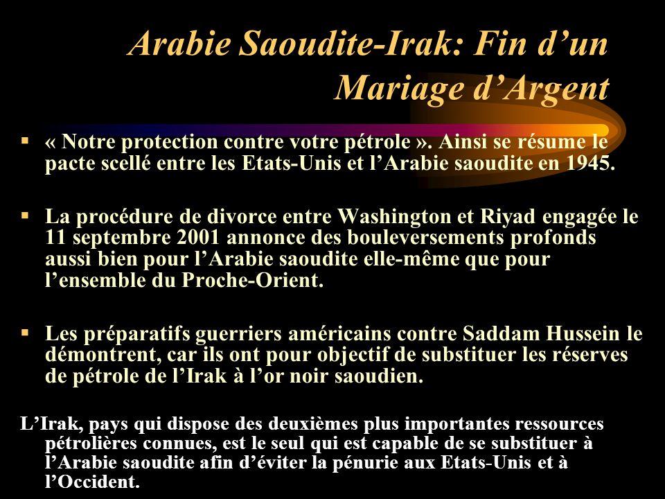 Arabie Saoudite-Irak: Fin d'un Mariage d'Argent