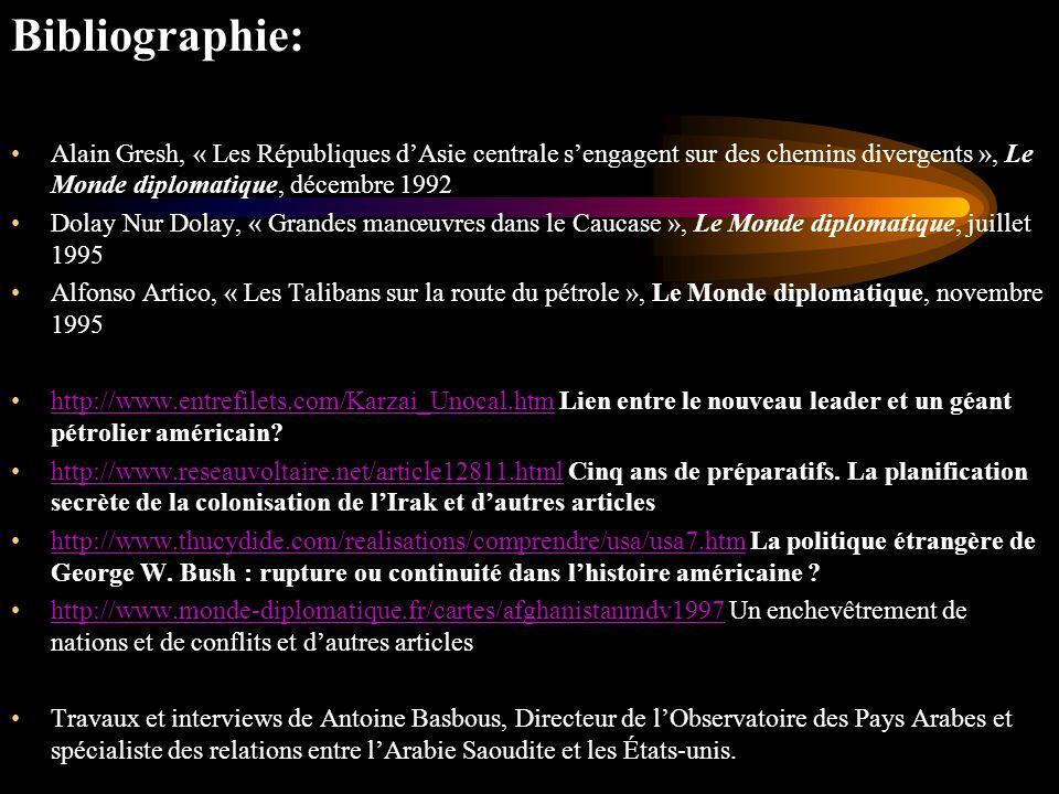 Bibliographie: Alain Gresh, « Les Républiques d'Asie centrale s'engagent sur des chemins divergents », Le Monde diplomatique, décembre 1992.