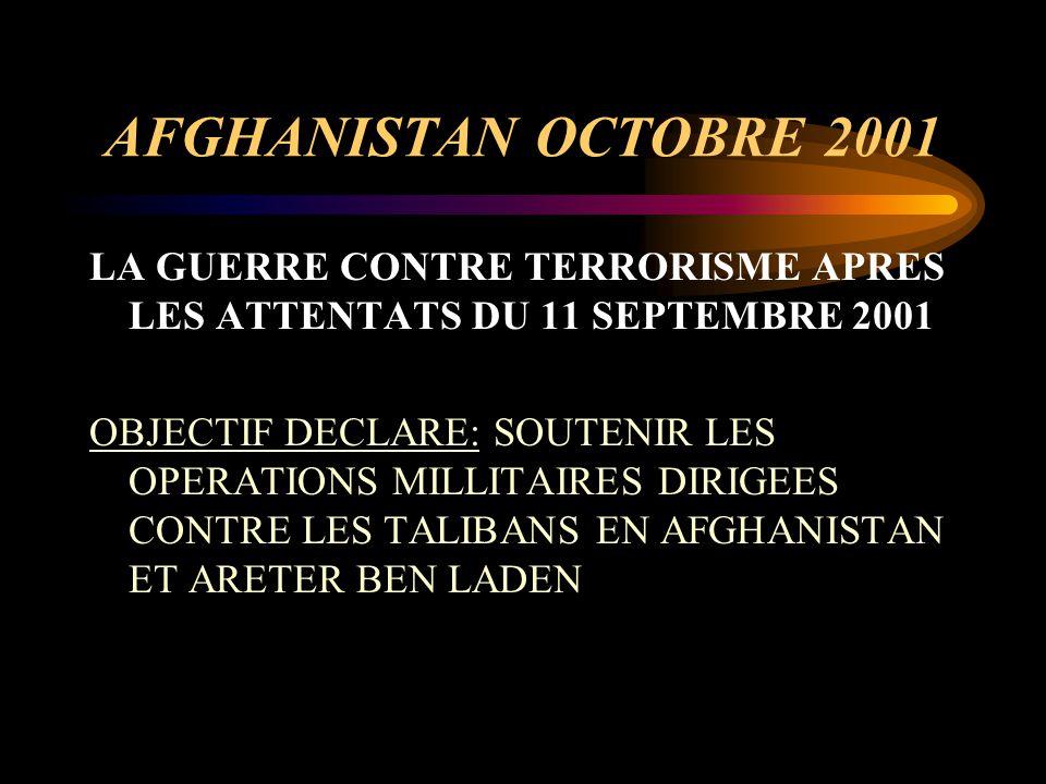 AFGHANISTAN OCTOBRE 2001 LA GUERRE CONTRE TERRORISME APRES LES ATTENTATS DU 11 SEPTEMBRE 2001.