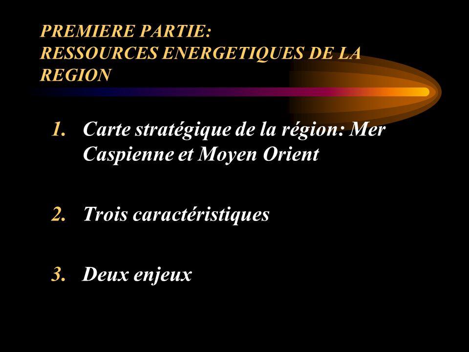 PREMIERE PARTIE: RESSOURCES ENERGETIQUES DE LA REGION