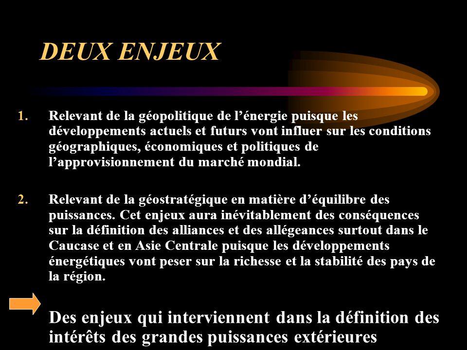 DEUX ENJEUX