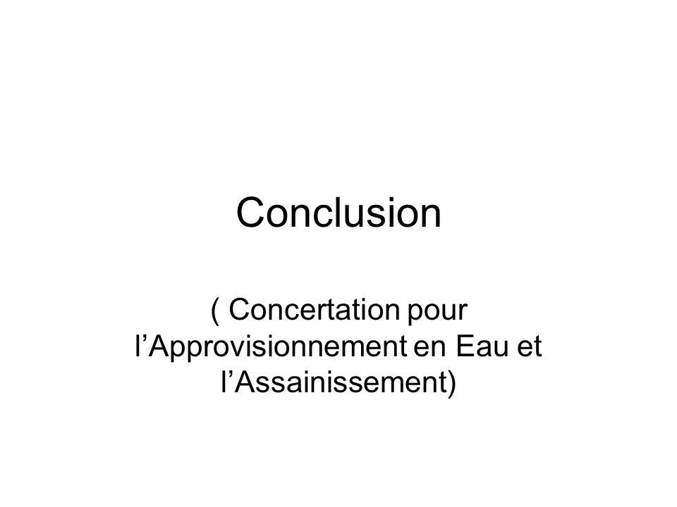 ( Concertation pour l'Approvisionnement en Eau et l'Assainissement)