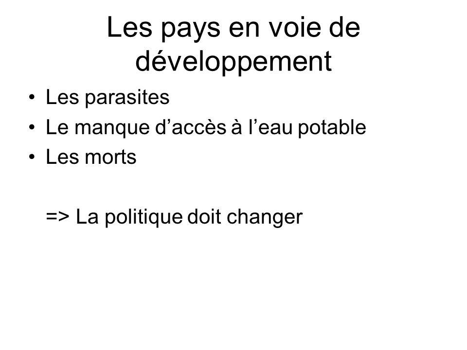 Les pays en voie de développement