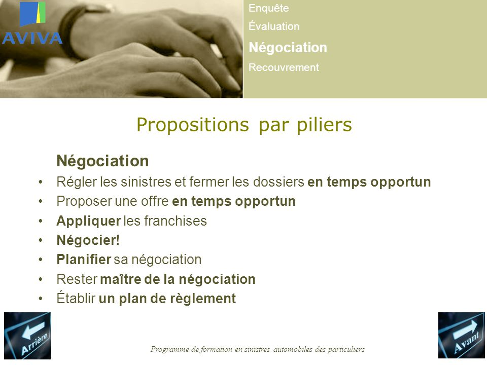 Propositions par piliers