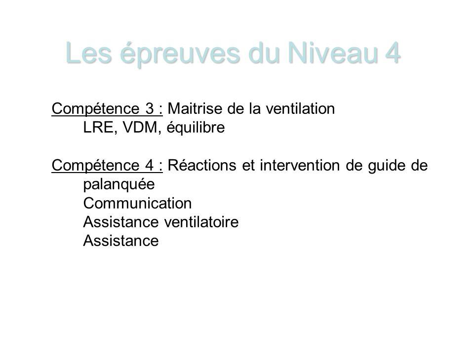 Les épreuves du Niveau 4 Compétence 3 : Maitrise de la ventilation
