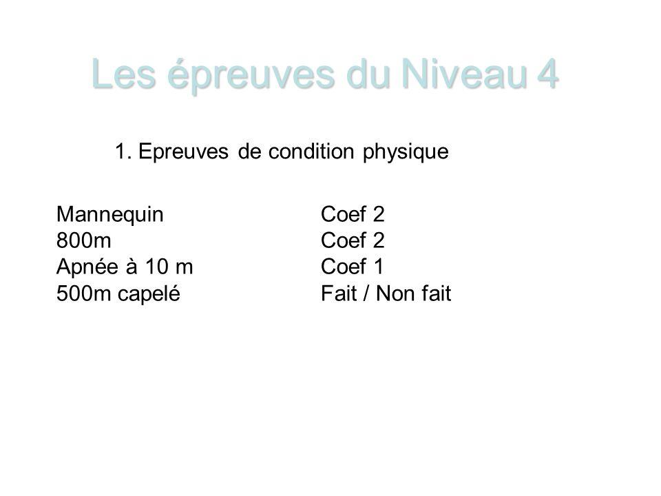 1. Epreuves de condition physique