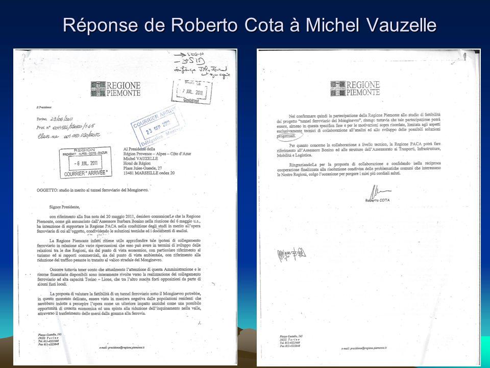 Réponse de Roberto Cota à Michel Vauzelle