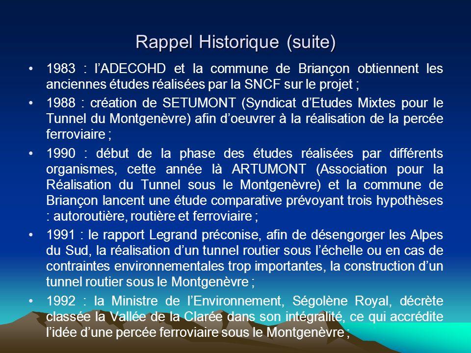 Rappel Historique (suite)