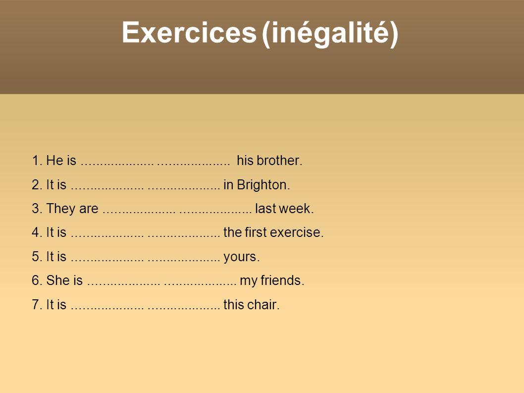 Exercices (inégalité)
