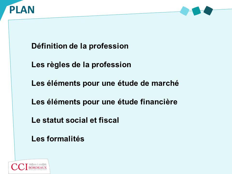 PLAN Définition de la profession Les règles de la profession